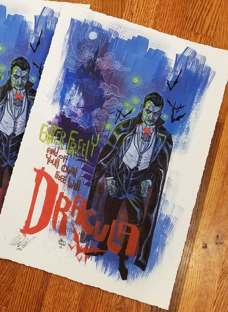 Image of Dracula Limited Edition Giclee Print by Alex Riegel