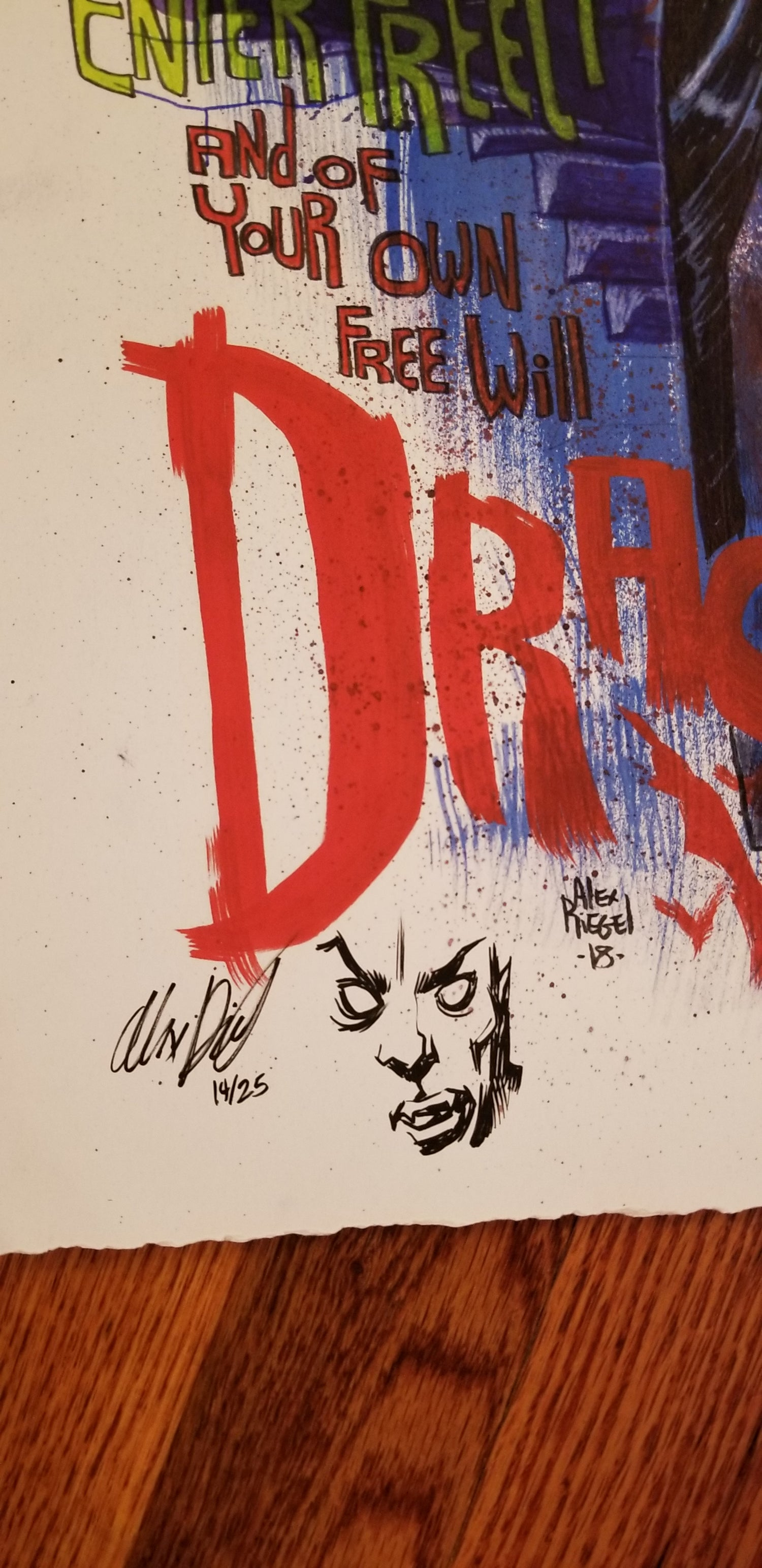 Image of Dracula Limited Edition Giclee Print with remark byby Alex Riegel #14/25