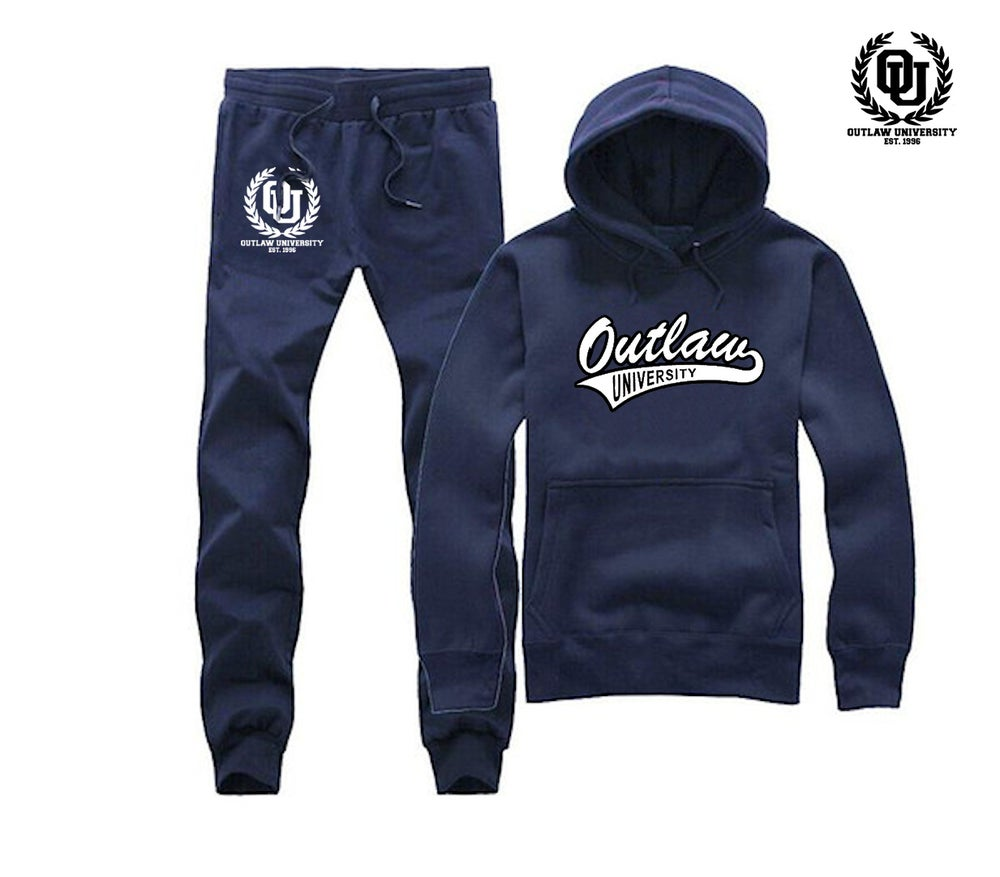 Image of  Outlaw Uni Unisex Sweatsuit - Comes in Black, Grey, Navy Blue, Red