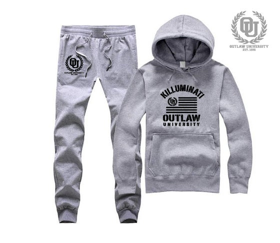 Image of Killuminati Uni Unisex Sweatsuit - Comes in Black, Grey, Navy Blue, Red