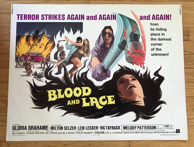 Image of 1971 BLOOD AND LACE Original U.S. Half Sheet Movie Poster