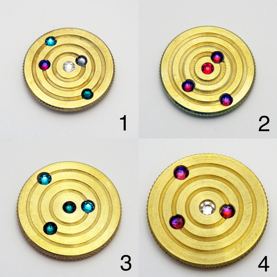 Image of Brass Orbit Pins #1, #2, #3, #4