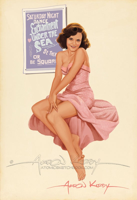 Image of Lorraine McFly (Lea Thompson) pin up.