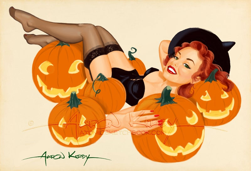 Image of Pumpkin Pin Up