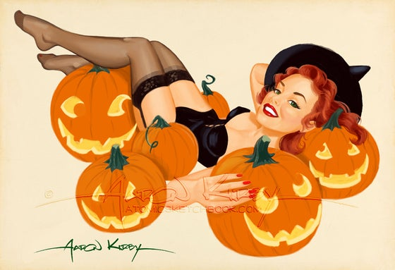 Image of Pumpkin Pin Up