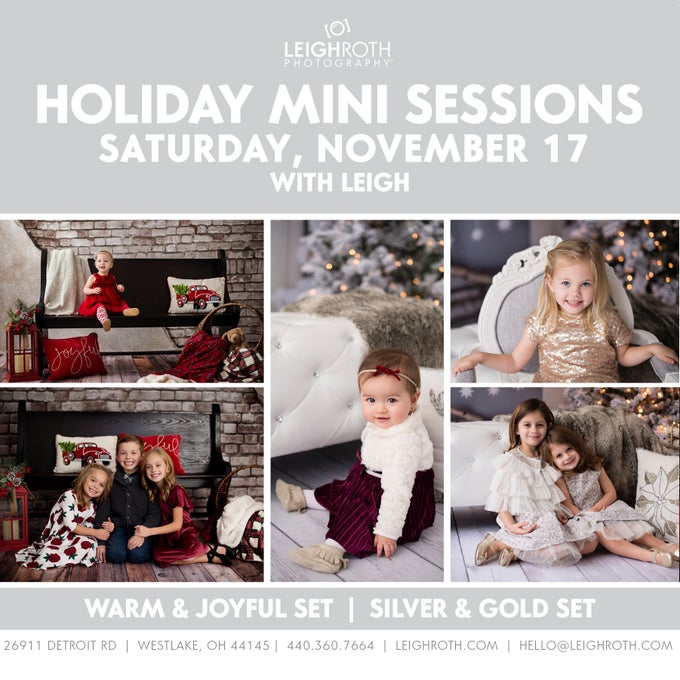 Image of HOLIDAY MINI SESSIONS - SATURDAY, NOVEMBER 17 with Leigh