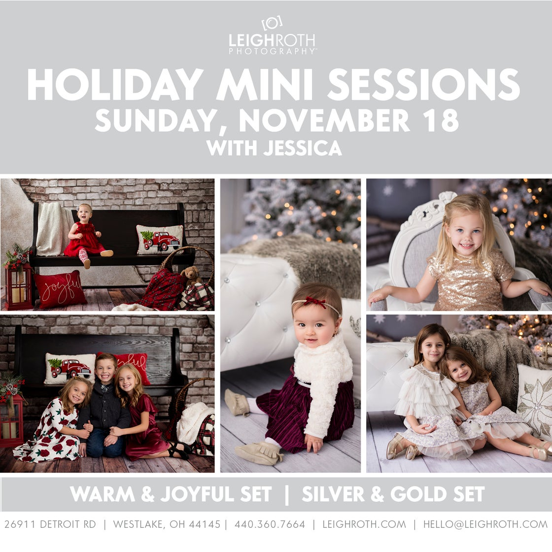 Image of HOLIDAY MINI SESSIONS - SUNDAY, NOVEMBER 18 with Jessica