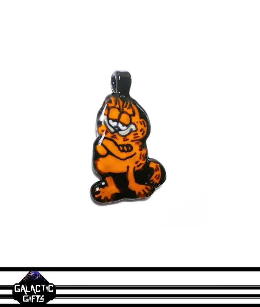 Image of B Weiz Glass - OG Garfield Flip Pendant