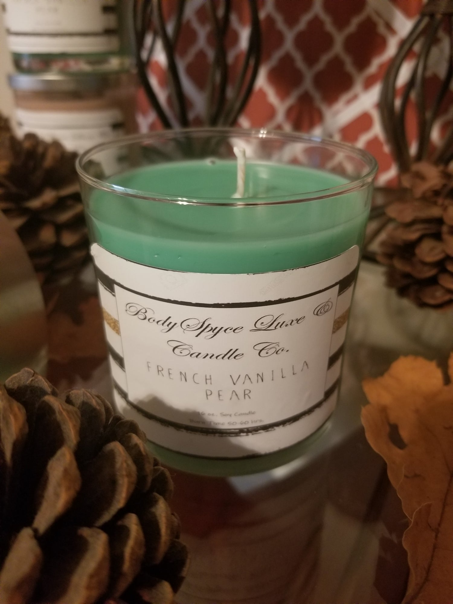 Image of French Vanilla Pear Soy Candle - CLOSEOUT SEASONAL ITEM
