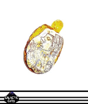 Image of Crews Glass & Travis Sporl Mayan Chief Collab Pendant
