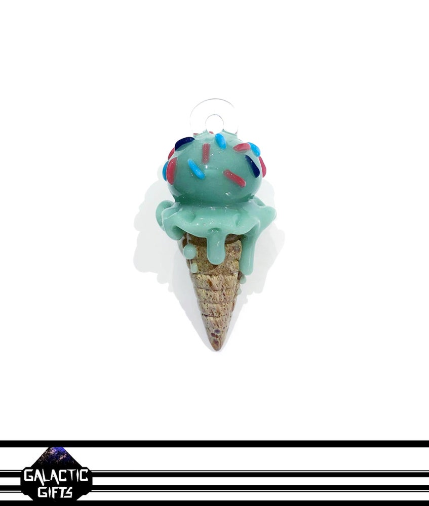 Image of Renee Patula Ice Cream Cone Pendant #1