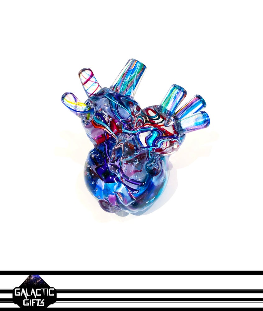 Image of Tropical Iceberg Glass Art Human Heart #1