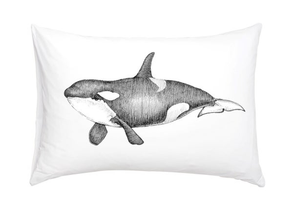 Image of Orca Whale Pillowcase