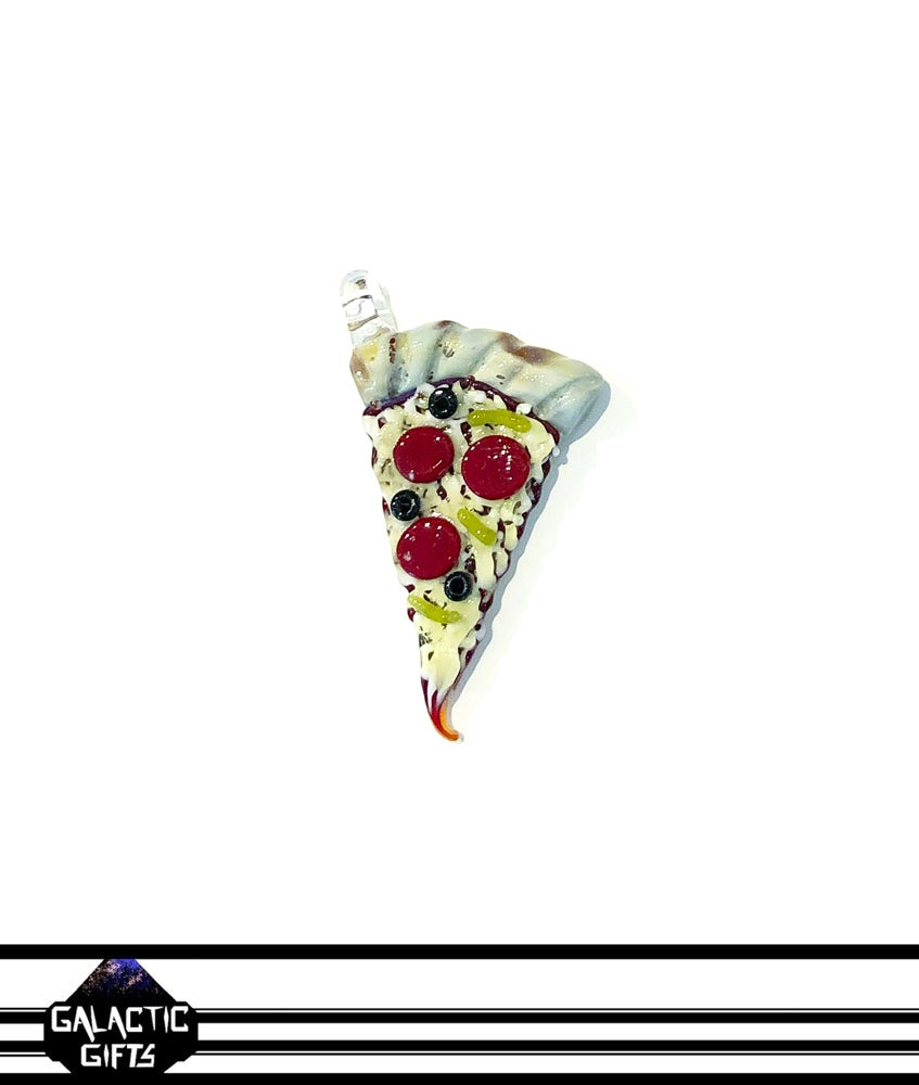 Image of Meld Glass UV Active Deluxe Pizza Slice Pendant #2