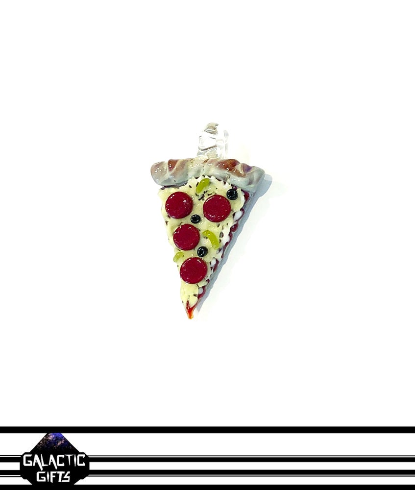 Image of Meld Glass UV Active Deluxe Pizza Slice Pendant #3