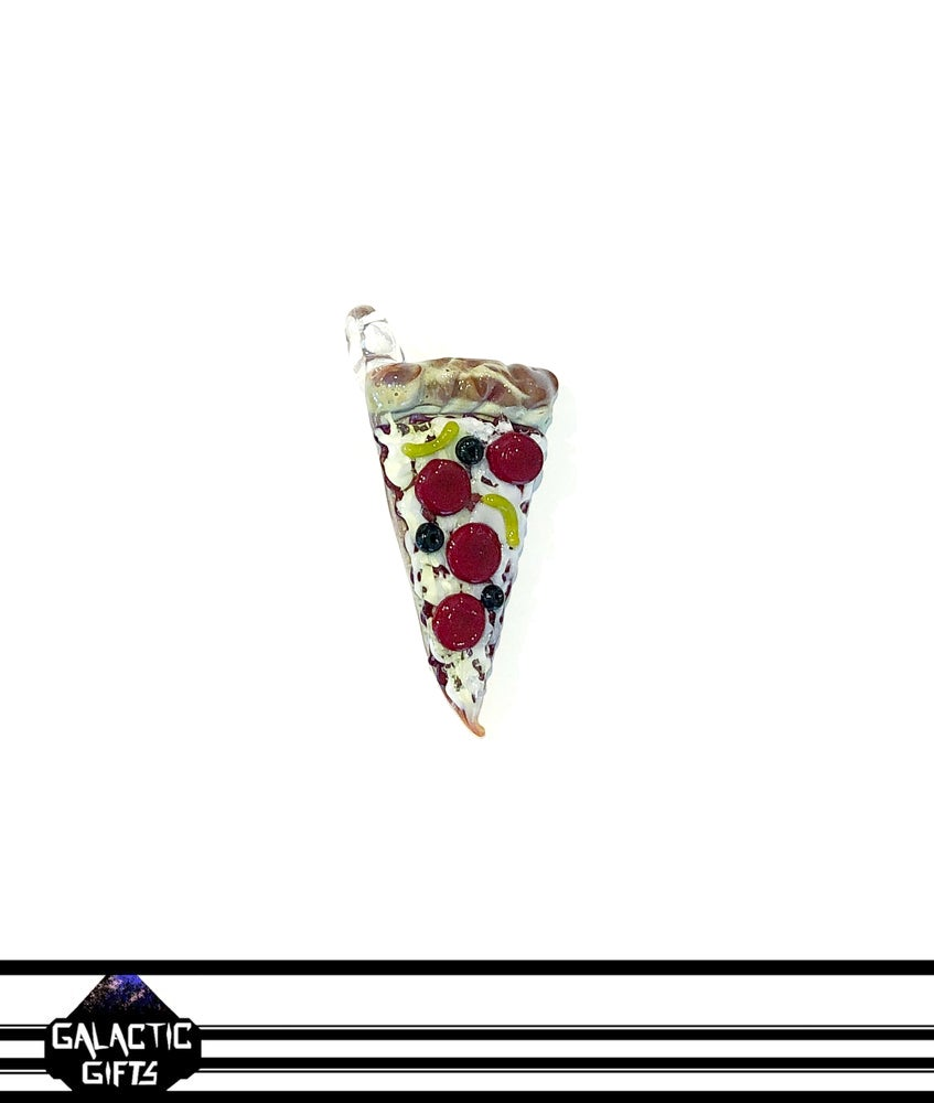 Image of Meld Glass UV Active Deluxe Pizza Slice Pendant #4