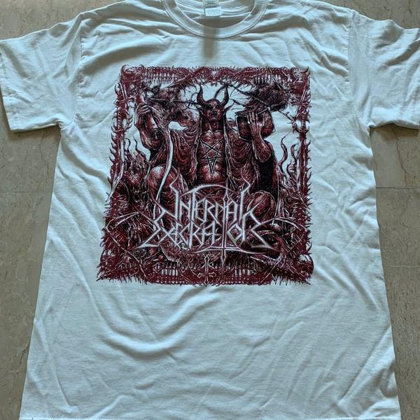 "Image of INFERNAL EXECRATOR ""Obsolete Ordinance"" White T-Shirt"