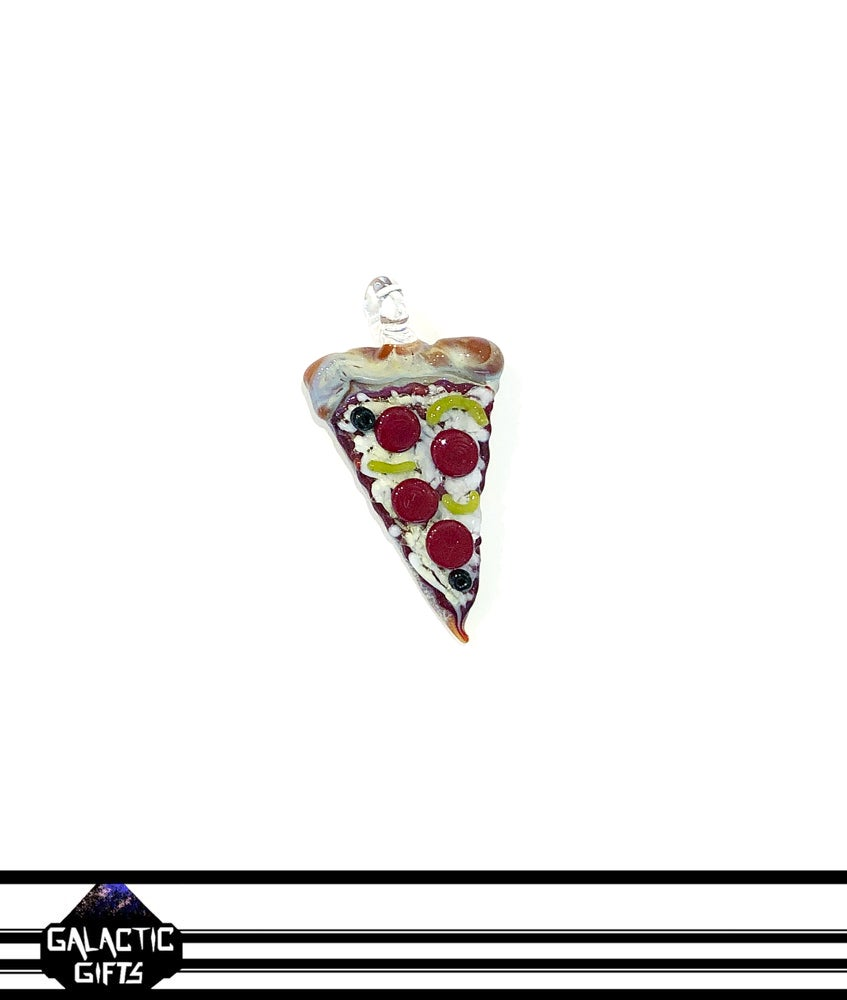 Image of Meld Glass UV Active Deluxe Pizza Slice Pendant #5
