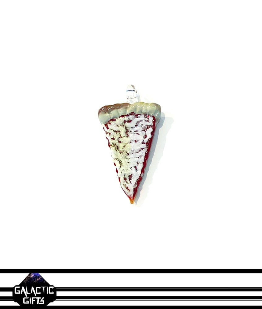 Image of Meld Glass UV Active Cheese Pizza Slice Pendant #4