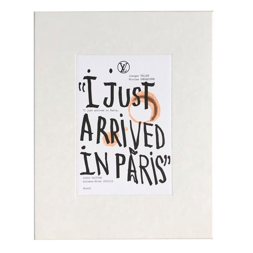 Image of I Just Arrived In Paris - JUERGEN TELLER
