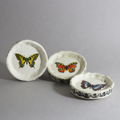 Image of Butterfly Collector Vases and Jewel Trays