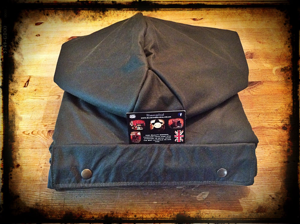Image of Fully lined Wool & Oilskin Poncho
