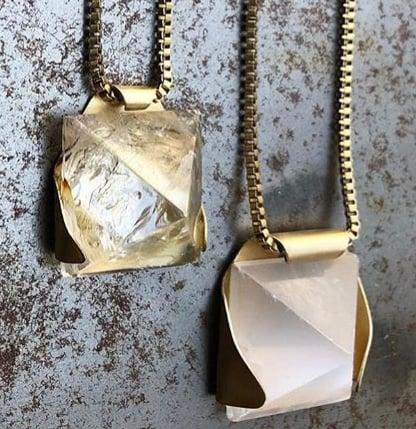 Image of Stone Pyramid Necklace