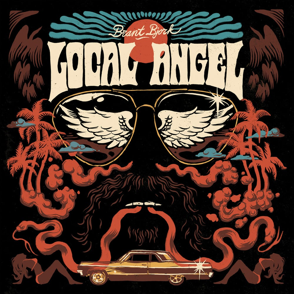 "Image of BRANT BJORK - LOCAL ANGEL 600 Ltd ""Side A / Side B"" Orange/ Blue Vinyl (LTD BLACK COVER)"