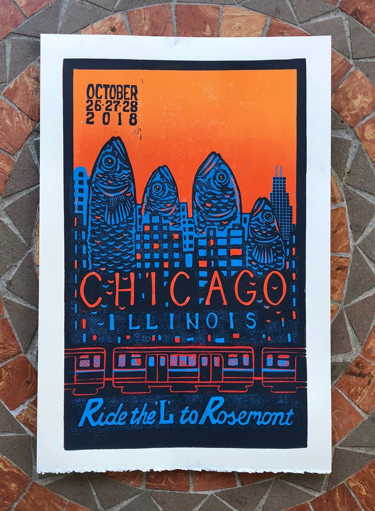 Image of Chicago 2018 print
