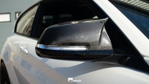 Image of BMW M-Style Full Carbon Wing Mirror Covers (Various Models)