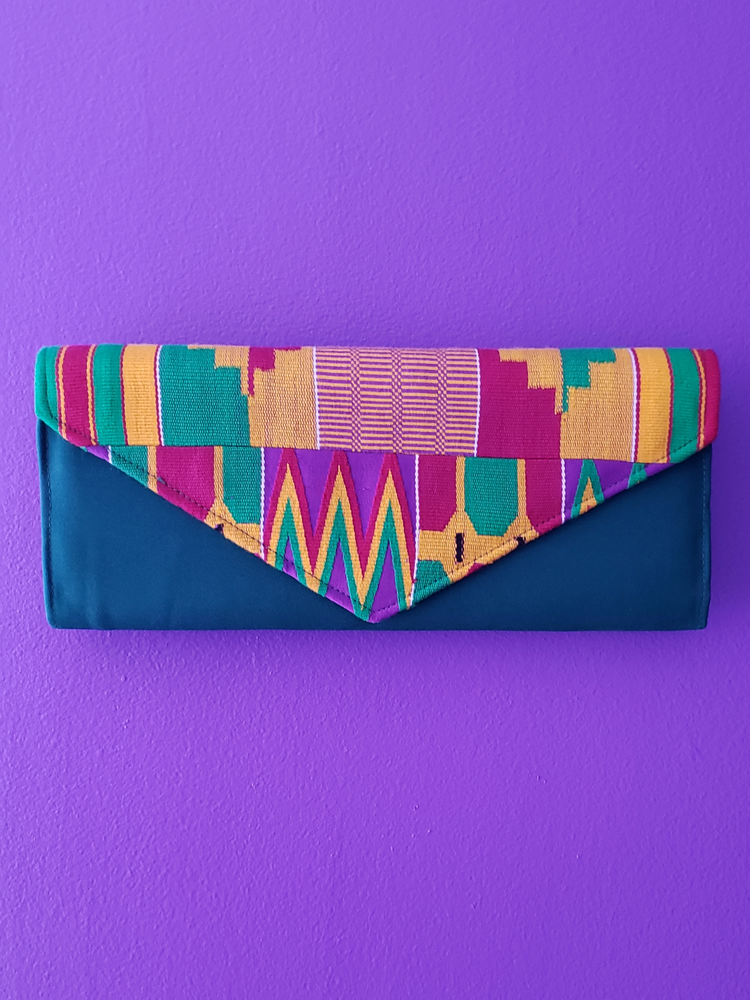 Image of Addae Long Kente Clutch Bag