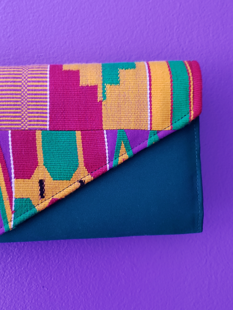 Image of Addae Long Kente Clutch Bag
