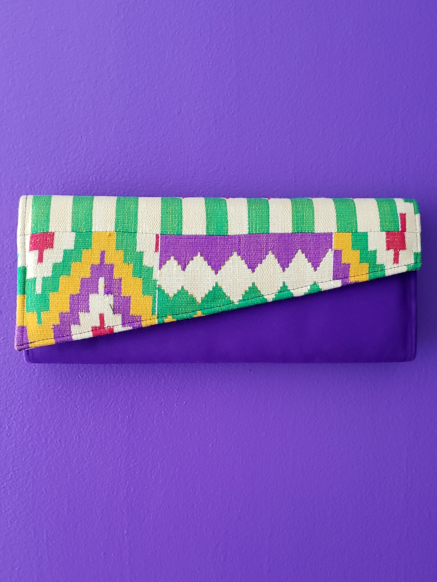 Image of Veliane Long Kente Clutch Bag