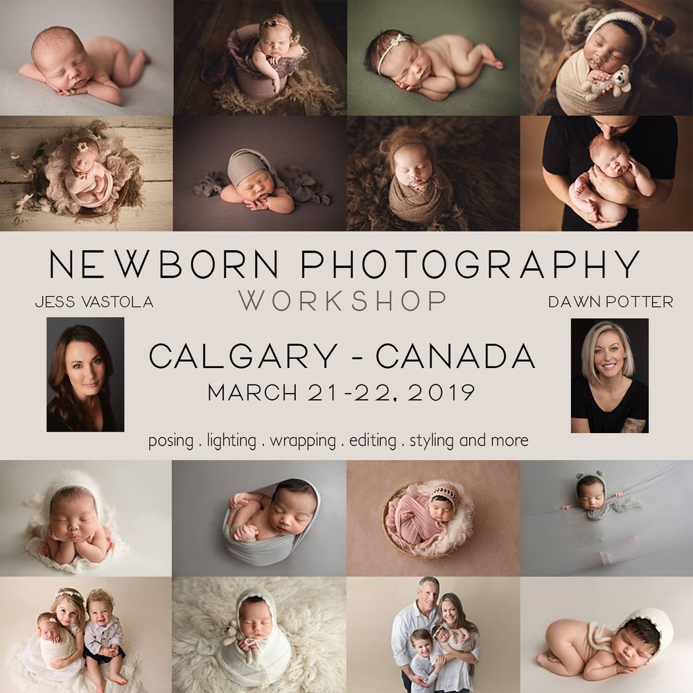 Image of 2 day calgary canada newborn workshop with jess vastola and dawn