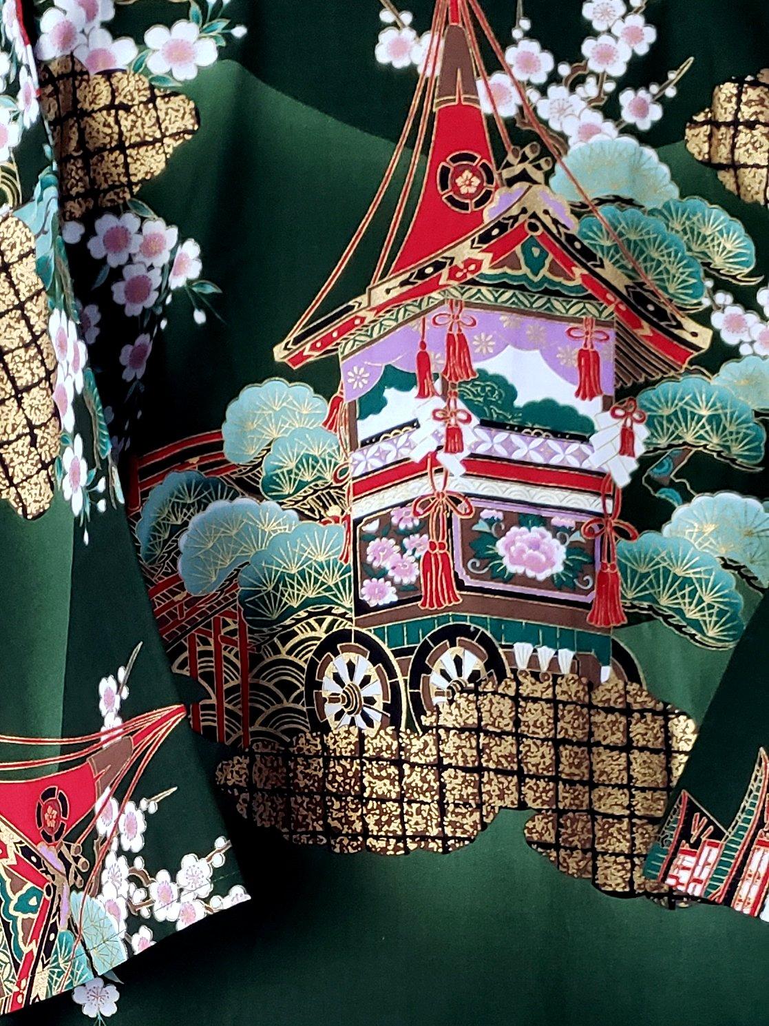 Image of Naoki Metallic Printed Robe & Belt