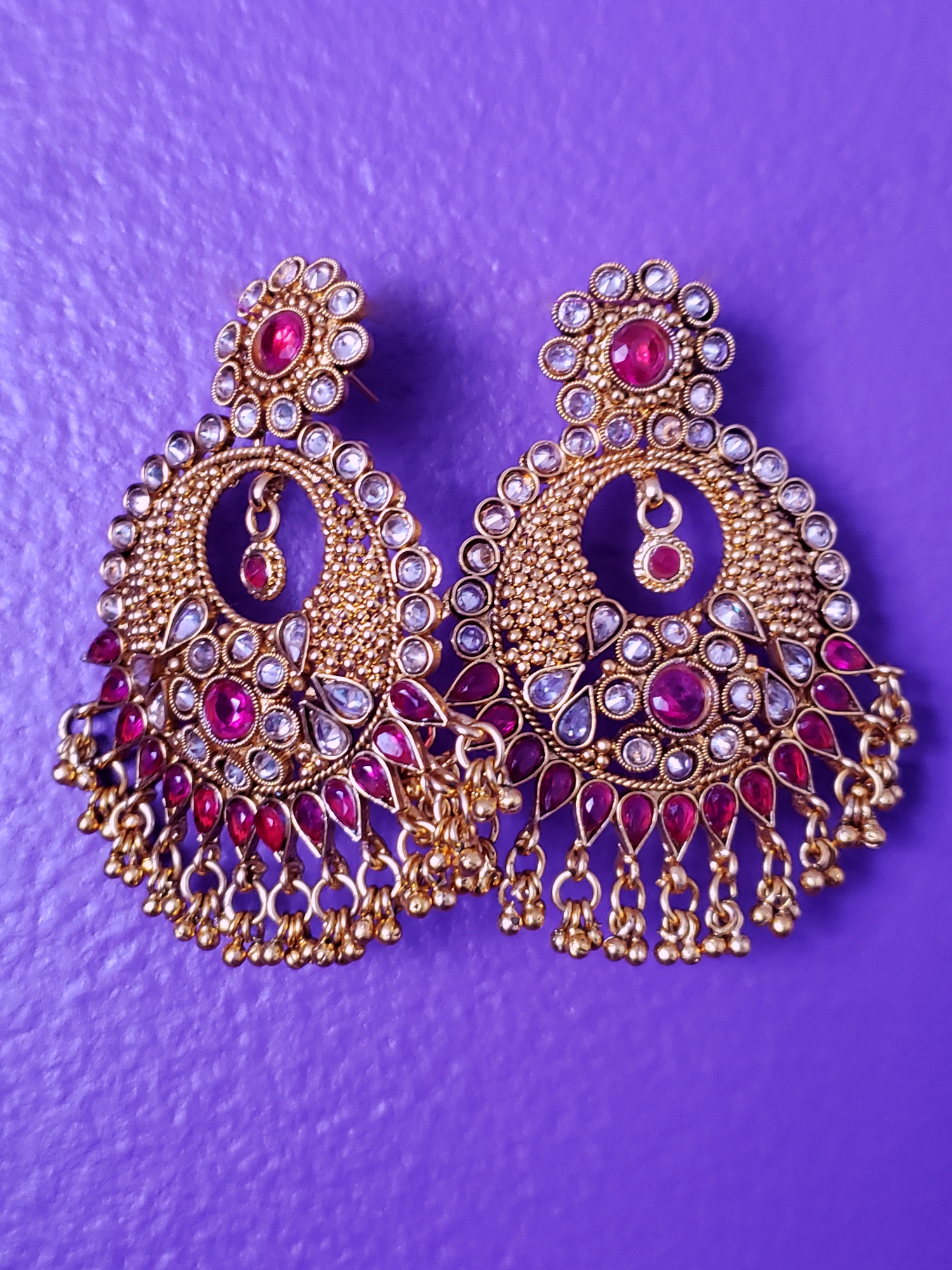 Image of Indra Chandelier Crystal Earrings