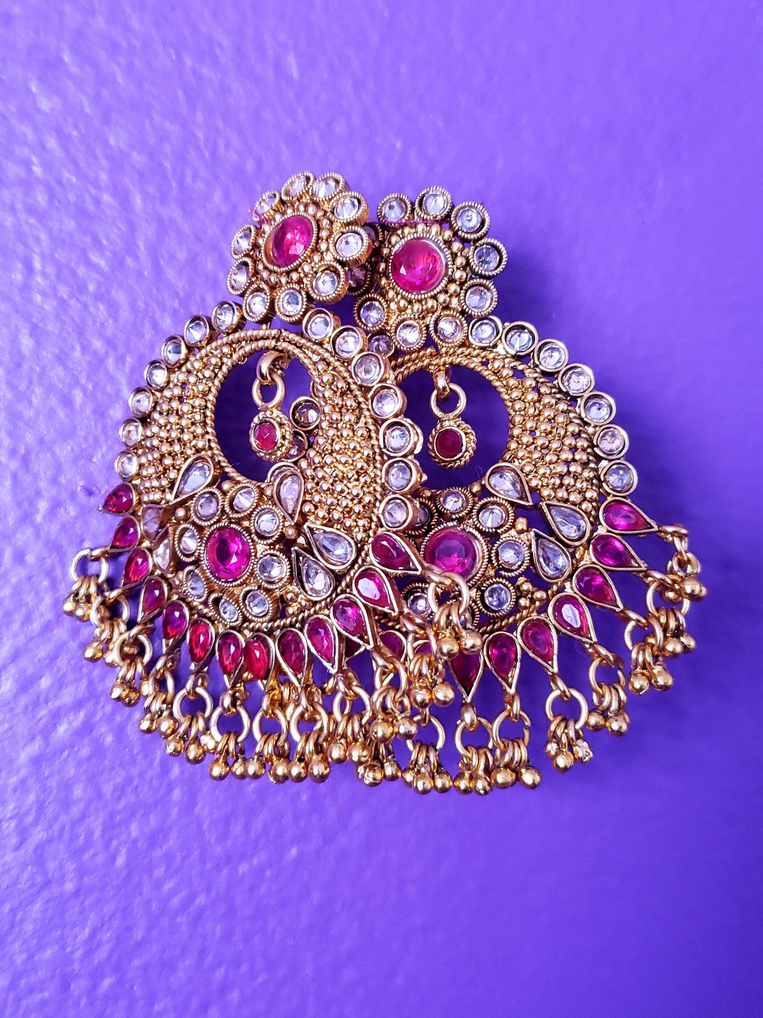 Image of Bansari Chandelier Crystal Earrings