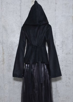 Image of FW18 - Wool Lace Up Hooded Cape & Top