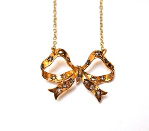 Image of Diamond bow necklace
