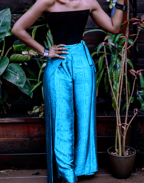Image of Ninn Silk Wrap Pants