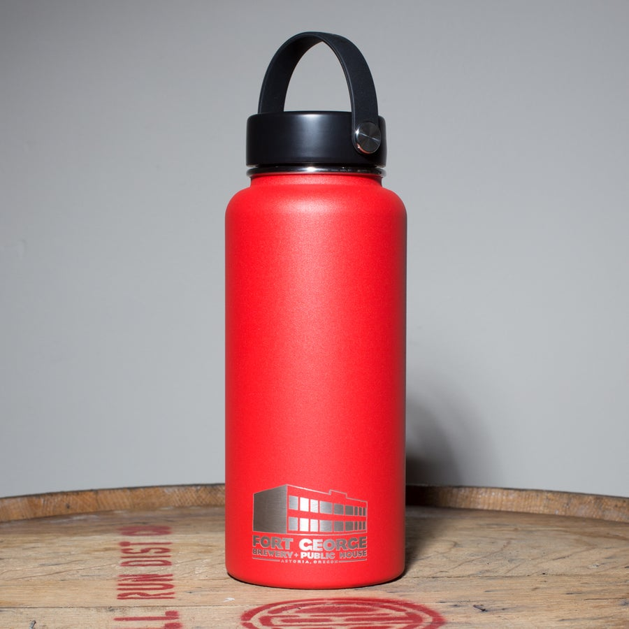 Image of Stainless Steel Growler (32oz) LAVA RED