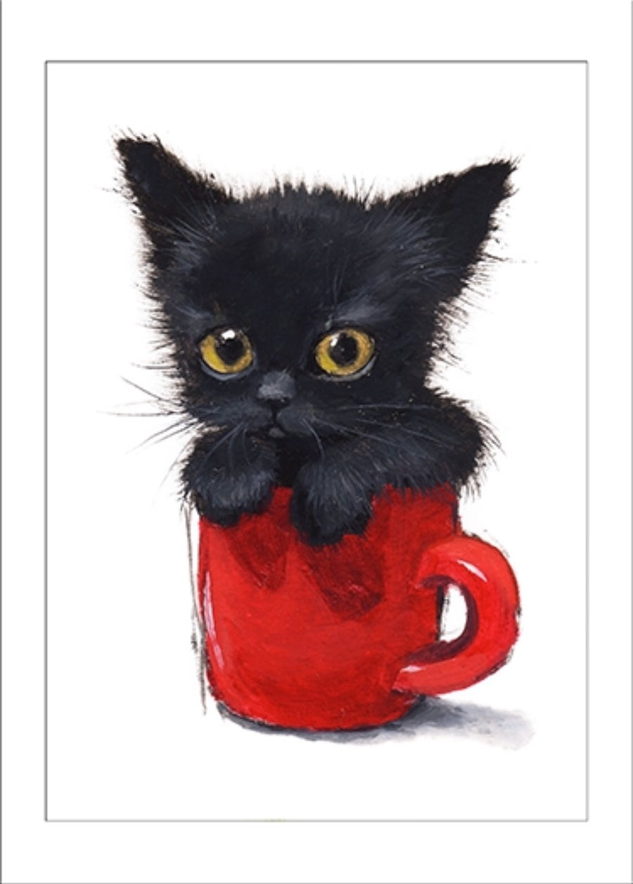 """Image of """"Red Cup"""" archival ACEO print"""
