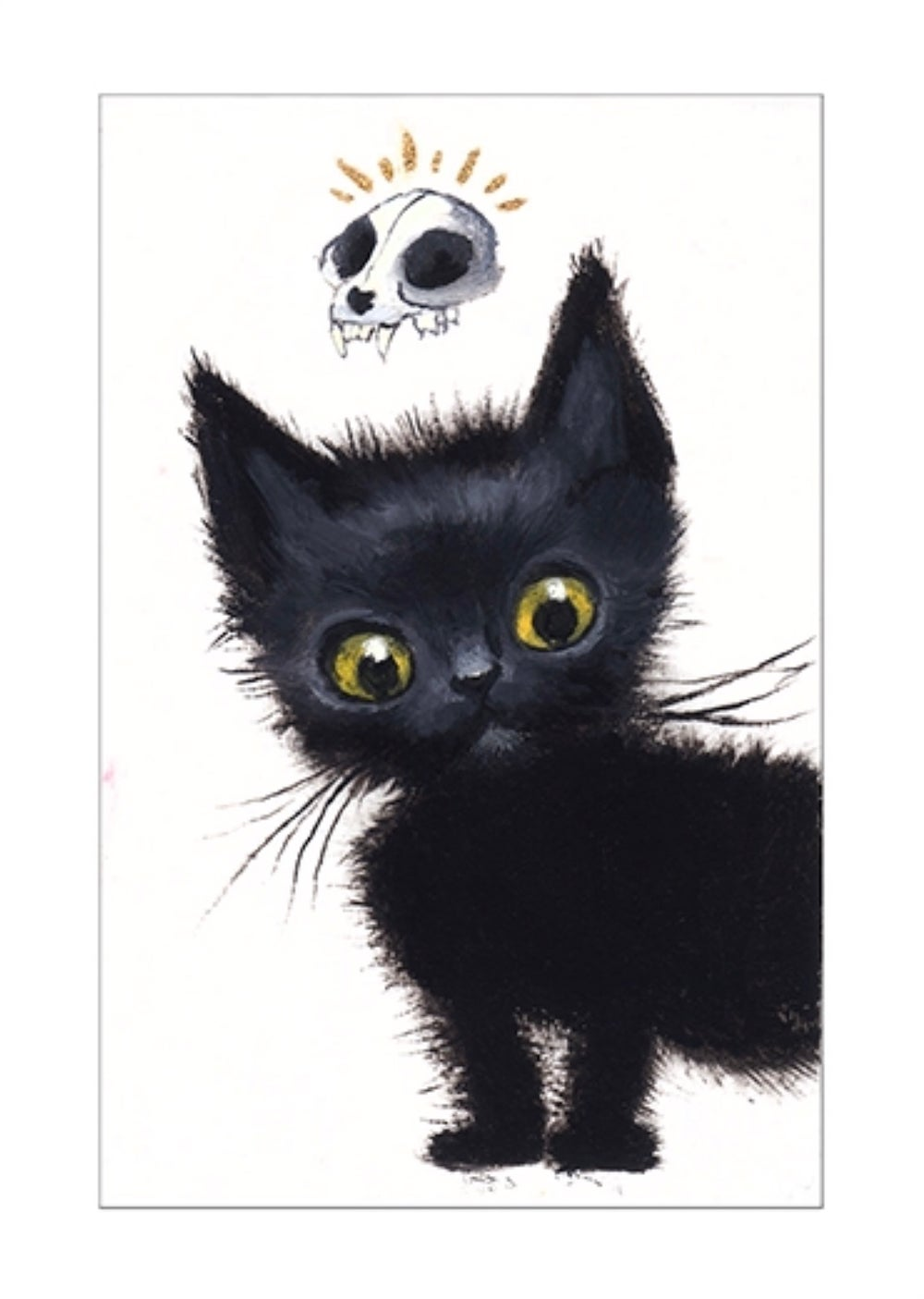 "Image of ""Black Cat II"" archival ACEO print"