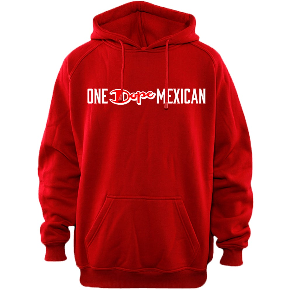 Image of One DOPE Mexican hoodie red
