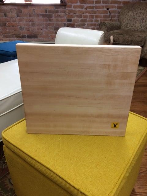Image of Tad Mebane Signature Art • Hard White Maple Wood Cutting Board