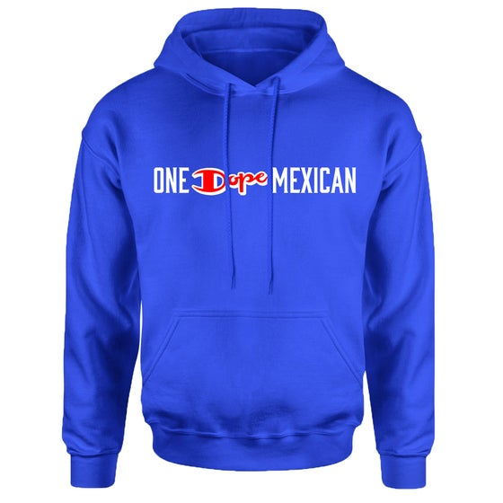 Image of One Dope Mexican hoodie blue