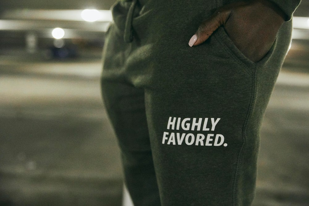 Image of Highly Favored Military Green Joggers