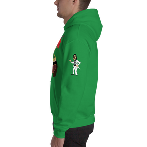 Image of Jimmy Hart's First Family of Pro Wrestling Christmas Hoodie (with Hart-Warming Sleeve Art)