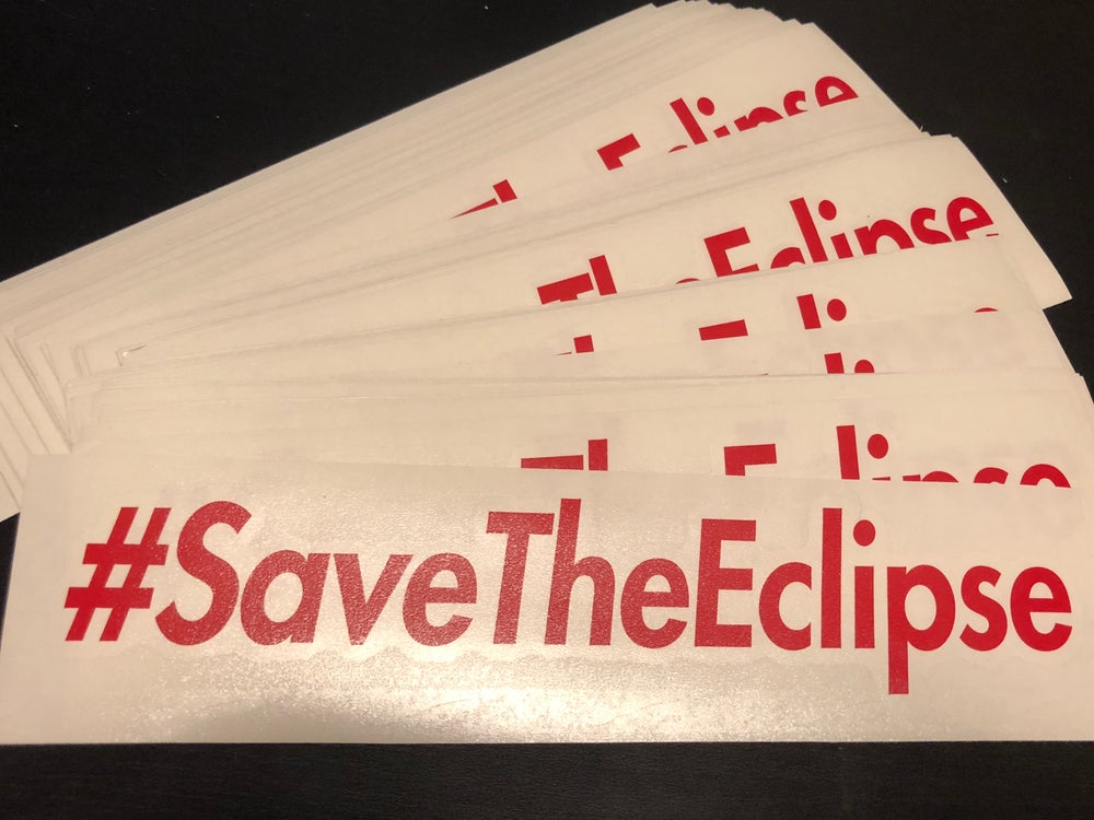 Image of #SaveTheEclipse |  RED STICKERS