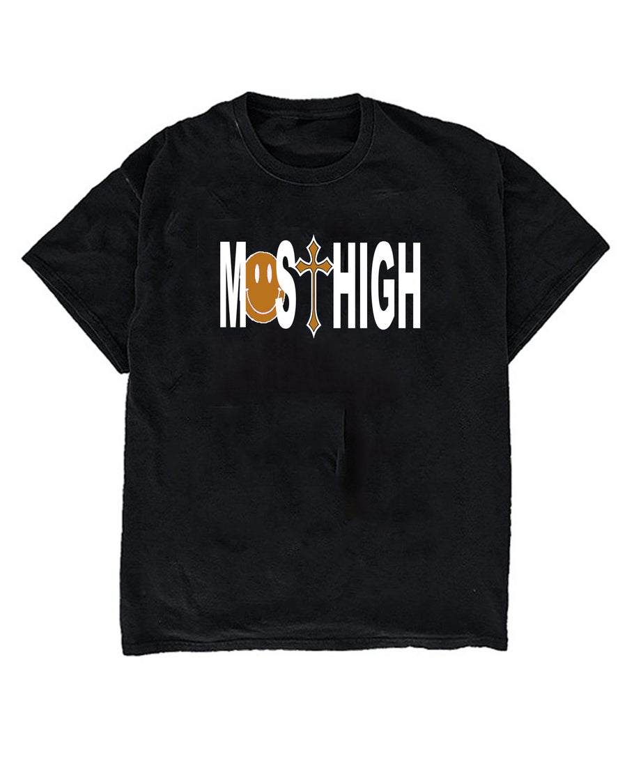 Image of MO$T HIGH TEE - BLACK